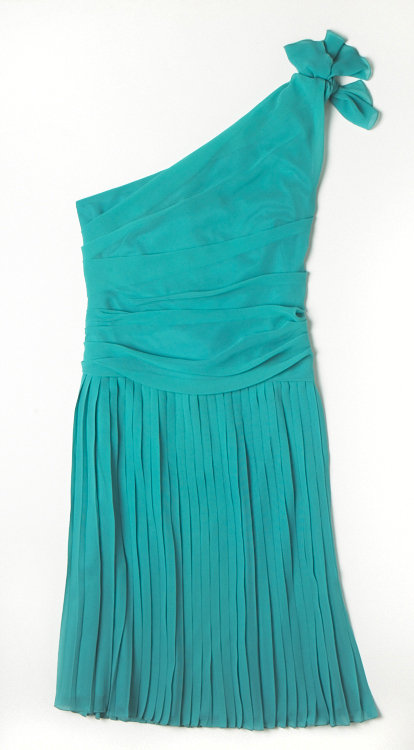 Alberta Ferretti for Macy's Impulse teal One-Sleeve Dress ($99)