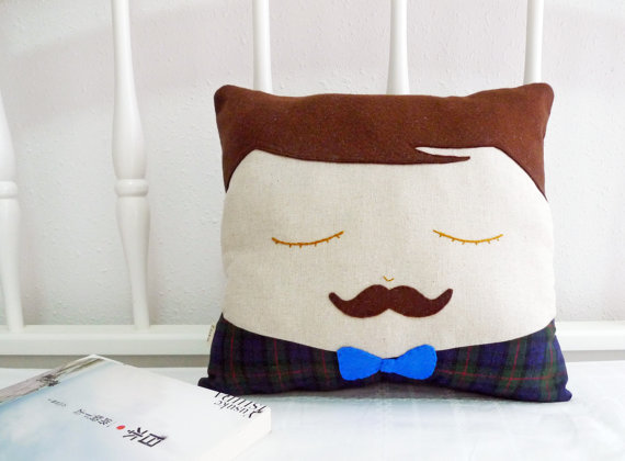 Cookie Cutter Etsy Mustache Man Cushion