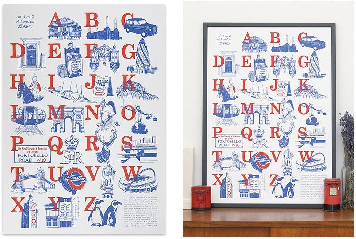 An A to Z of London Print ($37)