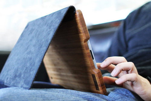 Bamboo and Felt iPad Case 