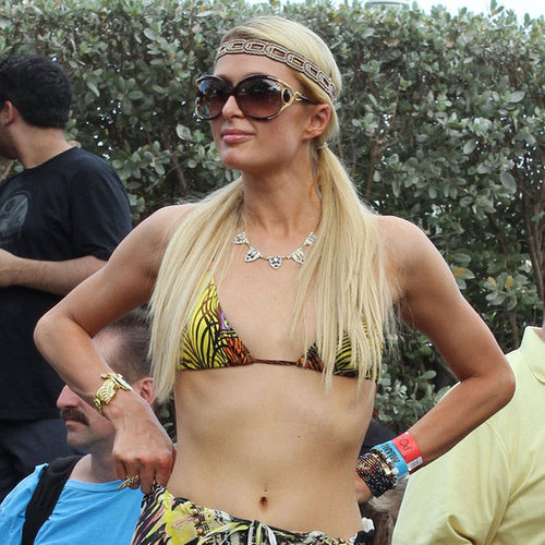 Paris Hilton in Bikini Top With Nicky Hilton Pictures