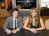 Jennifer Lawrence got together with her costar Josh Hutcherson for a book signing at a Barnes & Noble in NYC.