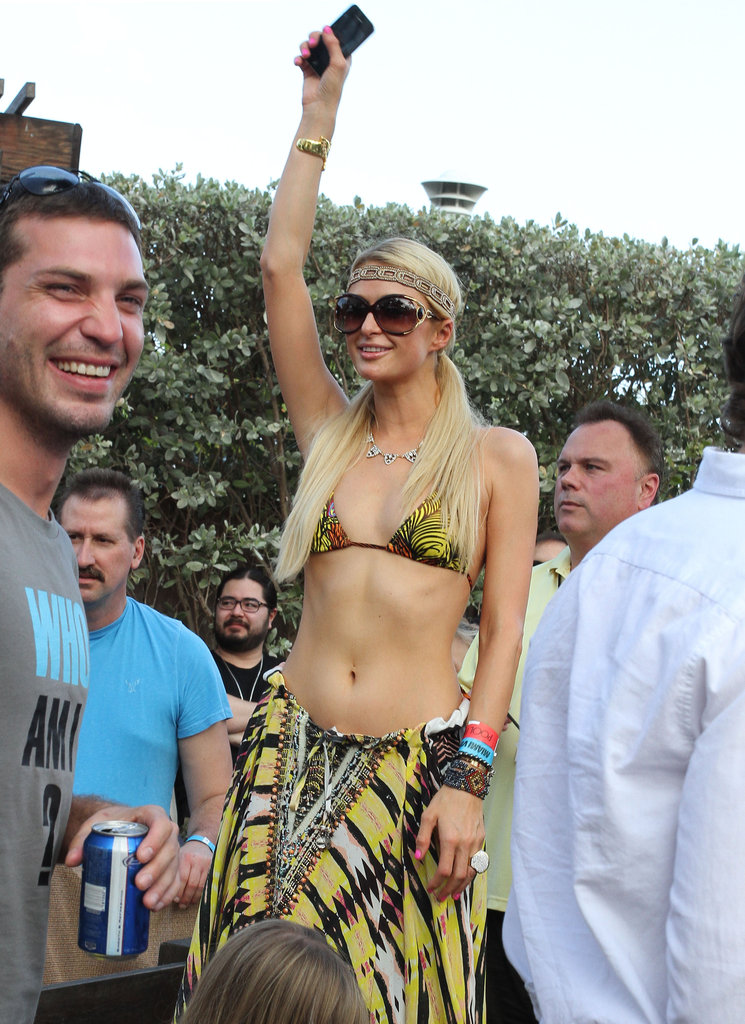 Paris Hilton danced in Miami.