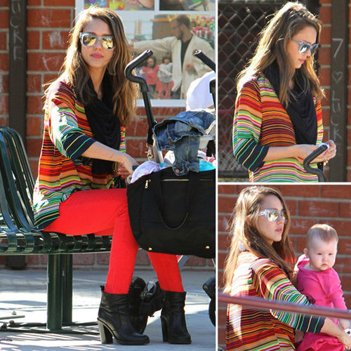 Add Multicolor Stripes Into Your Mix Like Jessica Alba