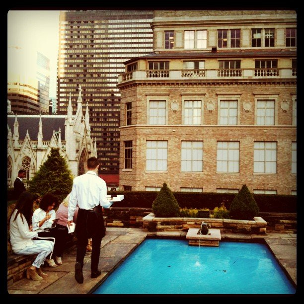 Not a bad day at work — we were treated to an evening on the rooftop at Coach's collection preview.