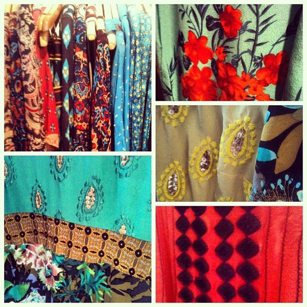 Decadent prints abounded for Fall at Tracy Reese.