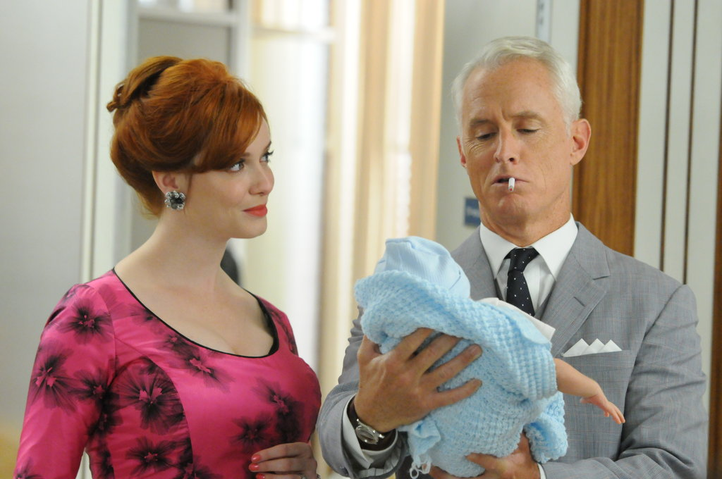 Christina Hendricks as Joan Harris and John Slattery as Roger Sterling on Mad Men.  Photo courtesy of AMC