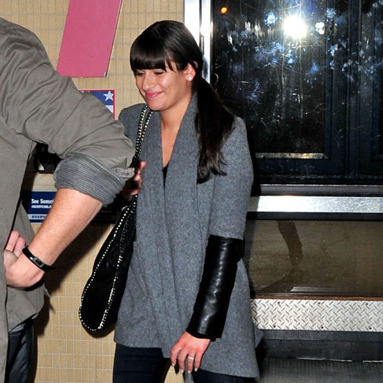 Lea Michele arrived at LAX with Corey Monteith.