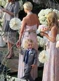 Ashlee Simpson at a wedding with Bronx Wentz.