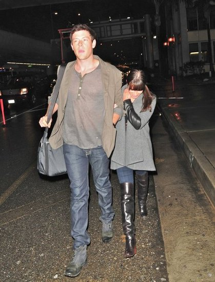 Lea Michele Hangs Onto Cory Monteith Following a Weekend Getaway