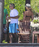 George Clooney in Mexico with Stacy Keibler.