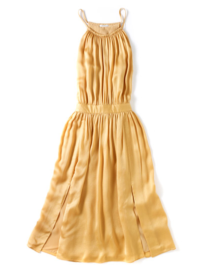 This sunny yellow dress is so versatile; we'd wear this to a Summer wedding, office, and everywhere in between.  Club Monaco Dori Dress ($249)