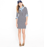 The zip detail give this nautical stripe dress the perfect sporty touch.  J.Crew Zip-Front T-shirt dress ($88)