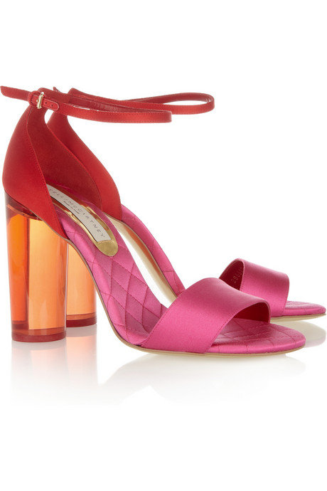 Stella McCartney Perspex-Heeled Satin Sandals ($1,025)
