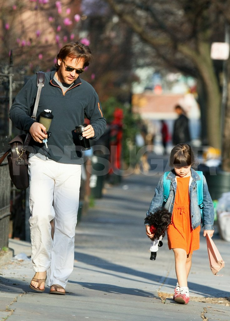 Peter Sarsgaard and Ramona Sarsgaard did the school run in Brooklyn last Friday.