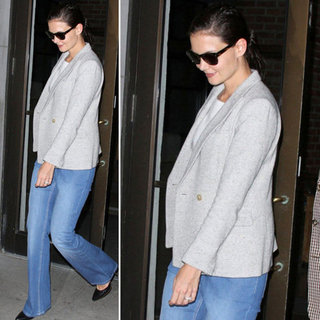 Katie Holmes Heather Gray Blazer