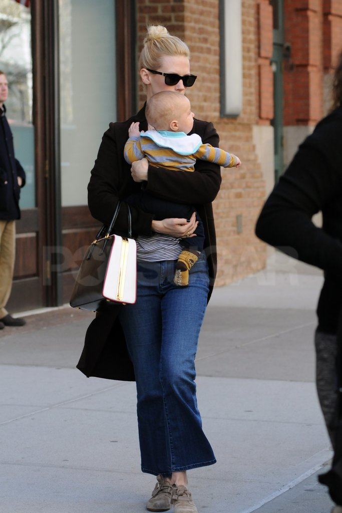 January Jones held Xander.