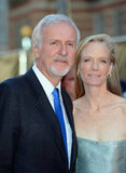 Director James Cameron was accompanied by his wife to the Titanic 3D world premiere in London.