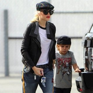 Gwen Stefani and Kingston Rossdale Going to Gymnastics Pictures