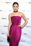Emmy Rossum attended the Metropolitan Opera gala in NYC.