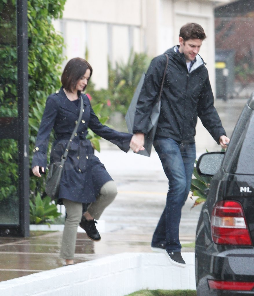 John Krasinski and Emily Blunt held hands in LA.