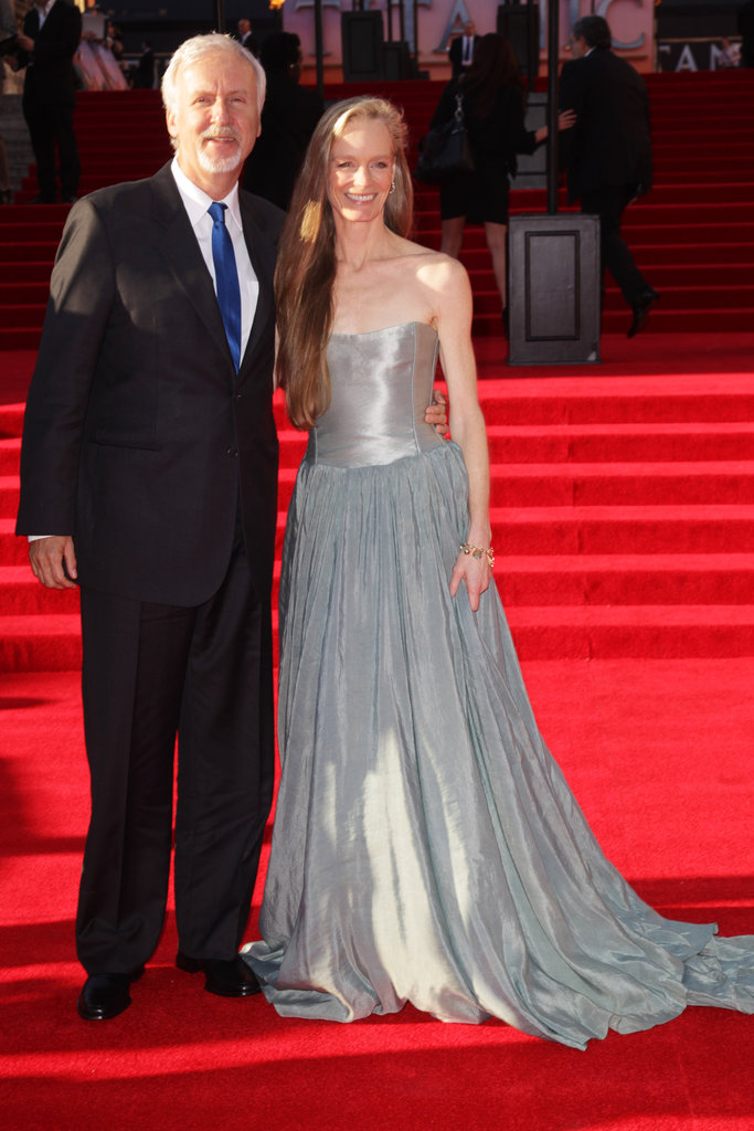 Director James Cameron and his wife, Suzy Amis Cameron, attended the Titanic 3D world premiere in London.