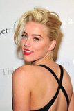 Amber Heard sported bright red lips at the Metropolitan Opera gala in NYC.