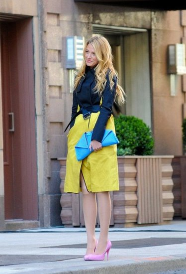 Blake Lively Brightens Up a Chilly Day on the Gossip Girl Set