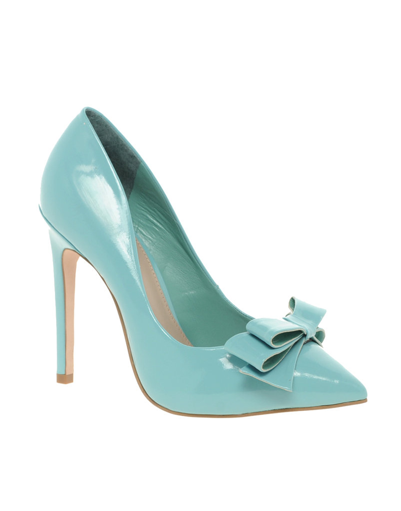 The bow-detailing gives them a touch of sweetness, while a pastel hue is right on trend.