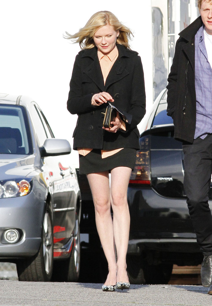Kirsten Dunst in Dolce & Gabbana shoes.