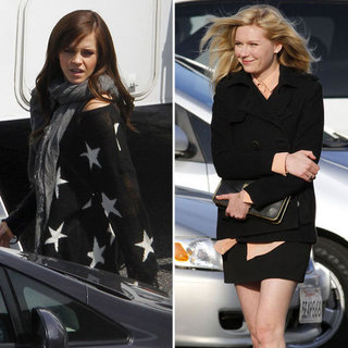 Emma Watson and Kirsten Dunst Pictures on The Bling Ring Set