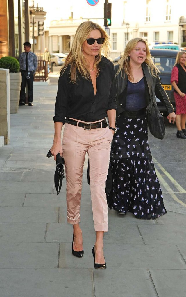 Kate Moss walked around London.