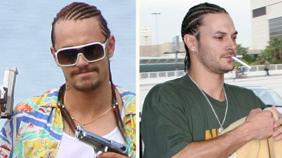 Video: Which Rapper Is James Franco Channeling on the Spring Breakers Set?