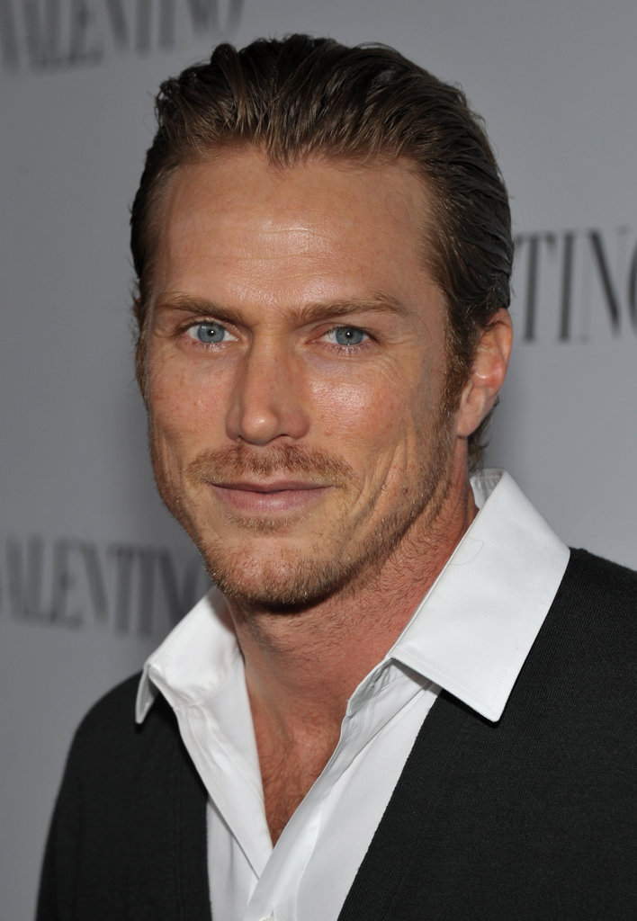 Jason Lewis looked dapper at Valentino's 50th anniversary party in LA.