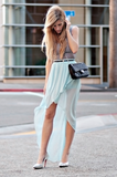 Dress up a striped tank with an ethereal maxiskirt and heels.  Photo courtesy of lookbook.nu