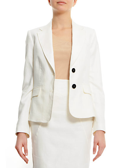 We're all obsessed with the slick white blazer this season — this one definitely fits the bill. Mango Slim-Fit Two Button Fastening Blazer in White ($40)