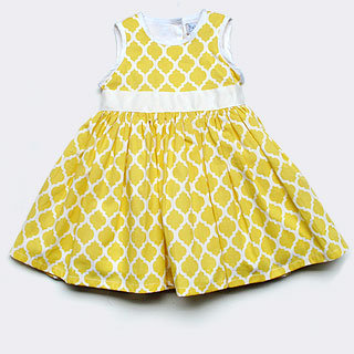 Baby CZ Yellow/White Cleo Tile Dress ($139)