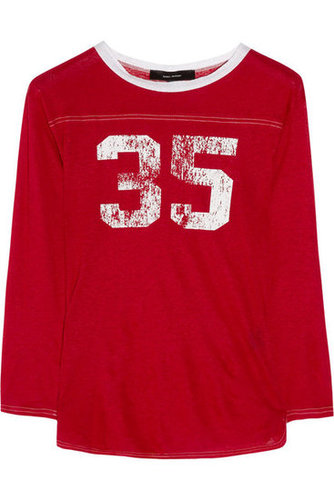 Isabel Marant|Pia printed linen-jersey T-shirt|NET-A-PORTER.COM