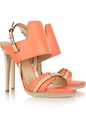 Reed Krakoff | Two-tone leather sandals  | NET-A-PORTER.COM