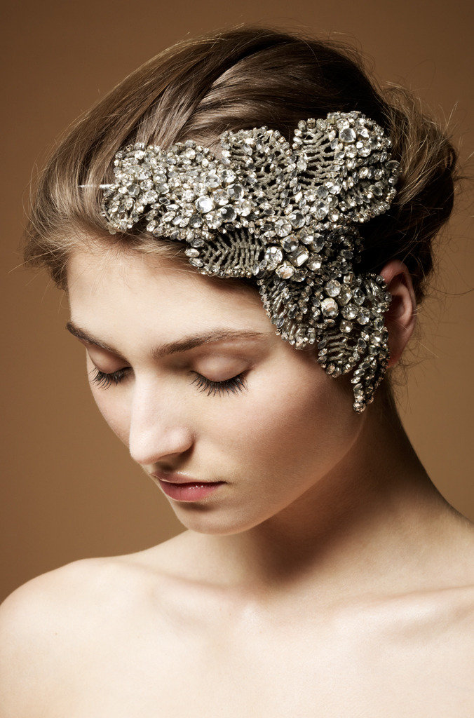 This superluxe Acacia bridal headdress from Jenny Packham is a popular piece on fantasy wedding boards, and it's easy to see why.