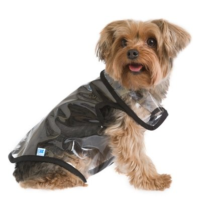 Ruffluv's transparent raincoat ($21) lets your pup's true colors shine through!