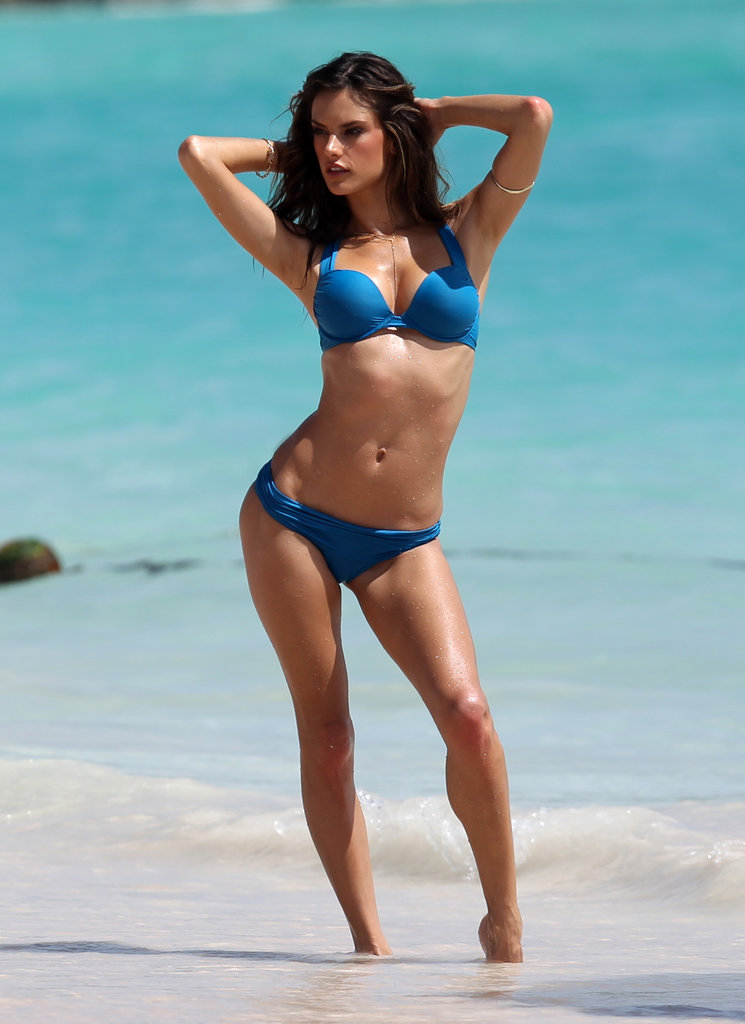 Alessandra Ambrosio did a Victoria's Secret shoot in St. Barts in July 2010.