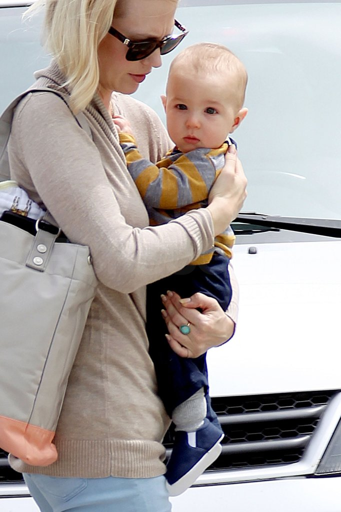 January Jones's son Xander.