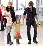 Nicole Kidman and Keith Urban brought Faith and Sunday with them on a flight leaving Australia.
