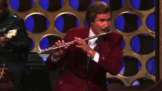 Video: See Will Ferrell Get in Costume, Play the Flute to Announce Anchorman 2!