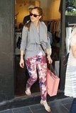 Minka Kelly went shopping in Sydney.
