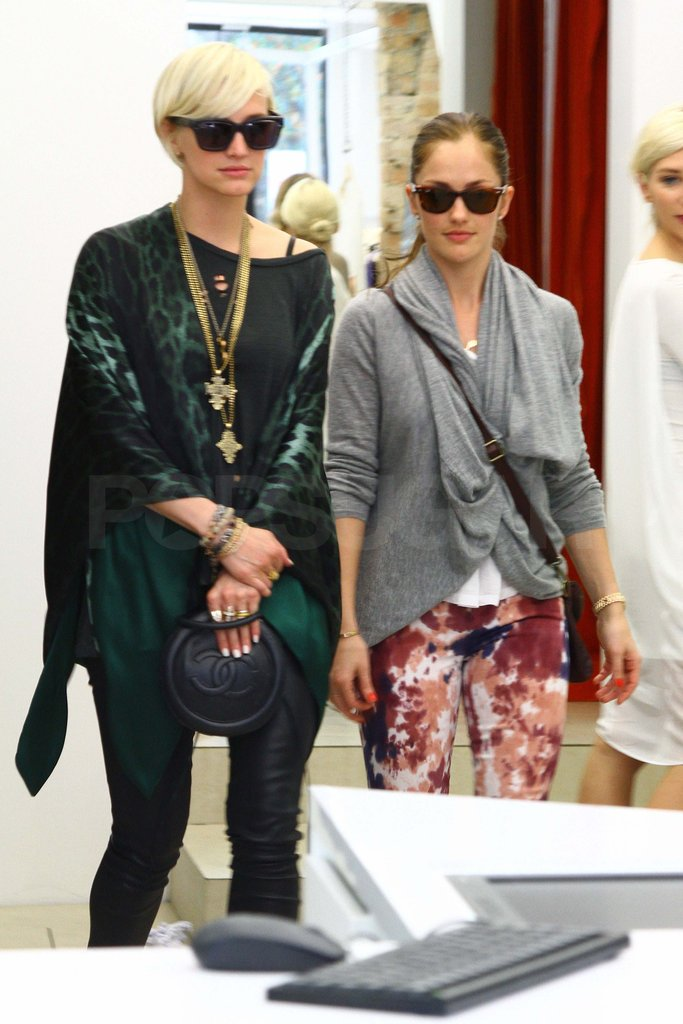 Ashlee Simpson and Minka Kelly went shopping together.