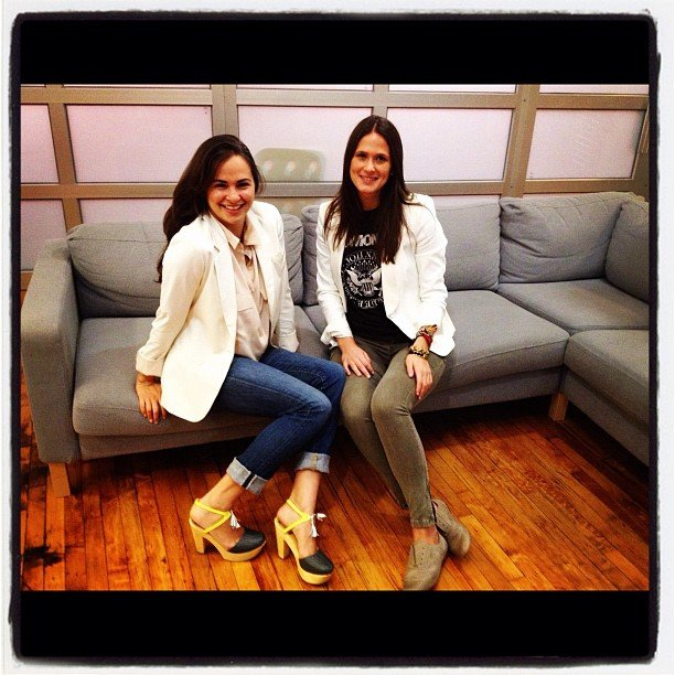 Editor Noria and assistant editor Hannah styled up the white blazer two ways.