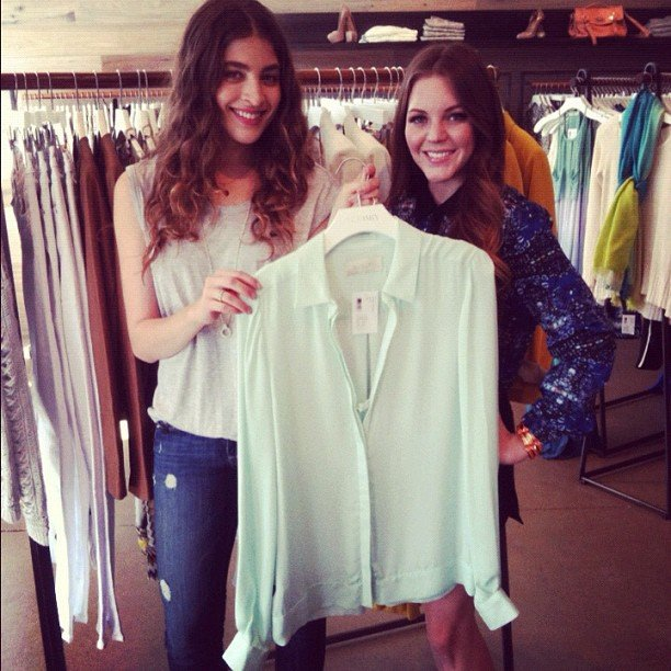 FabSugarTV shot its latest — adventures in pulling off a mint-green top.