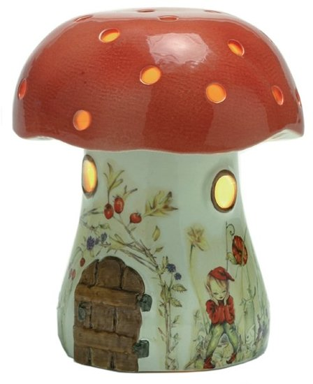 Pink Olive Bramble Mushroom Night Light